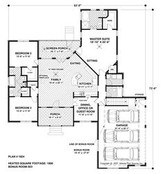Florida Style House Plans Square Foot Home Story