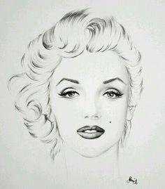 Marilyn Monroe-Porträt