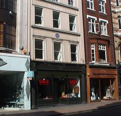 Horatio, Lord Nelson's house at 103 New Bond Street, London.