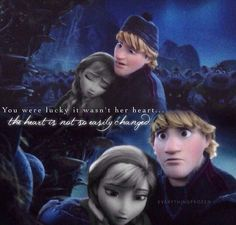 The worried look in Kristoff's eyes makes me want to melt...