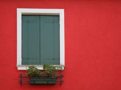 Colorful window in Burano