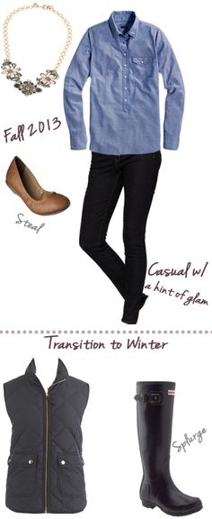Fall Style all I need is the Hunter boots :)