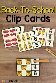Back-To-School Counting Clip Cards