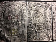Foil Skulls Halloween Art Lesson The students love this project!!! It's a great Halloween Art Lesson or Dio Los Muertos Project.
