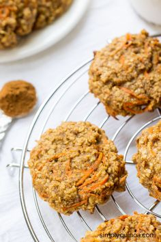 These AMAZING quinoa breakfast cookies taste just like carrot cake but are actually HEALTHY | gluten-free + vegan | recipe on simplyquinoa.com