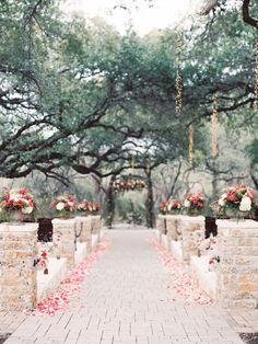 outdoor wedding ceremony idea; photo: Michelle Boyd