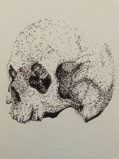 Pointillism Skull Illustration. #skull #illustration #pointillism #art