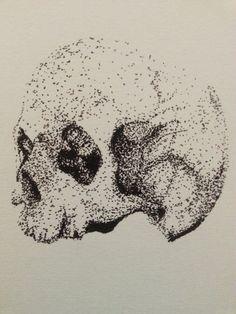 Pointillism Skull Illustration. #skull #illustration #pointillism #art