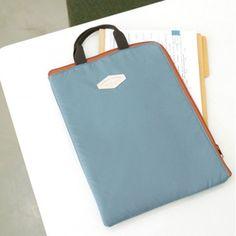 Bolsa y portadocumentos de tamaño A4 – Azul