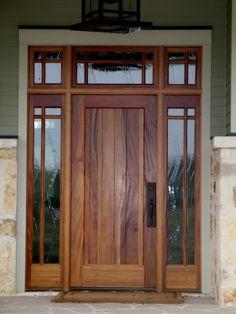 22 Ideas Wooden Front Door With Sidelights Woods - October 18 2019 at Front Door Entryway, Wood Front Doors, Modern Front Door, House Front Door, Entry Doors, Home Depot Interior Doors, Prehung Interior Doors, Exterior Doors With Glass, Wood Exterior Door