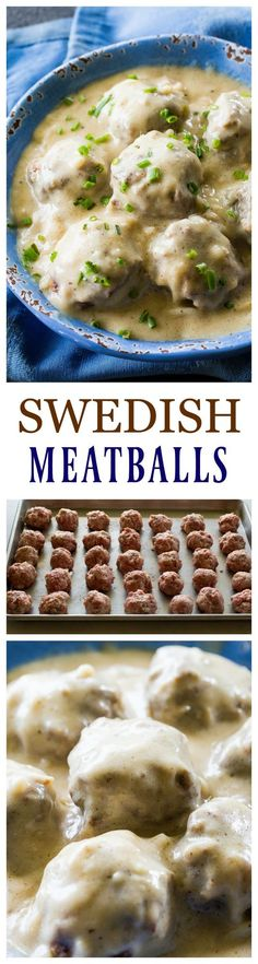 These Swedish Meatballs are so tender and a topped with a flavorful gravy that is good over pasta or rice. Keep them warm in the slow cooker for a great potluck dish!  Our church was having a heritage
