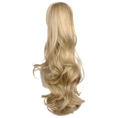 Toptheway Curly Synthetic Ponytail Hair Piece Claw Clip On In Hair Extensions (C13,Blonde Mix) * This is an Amazon Affiliate link. You can find more details by visiting the image link.