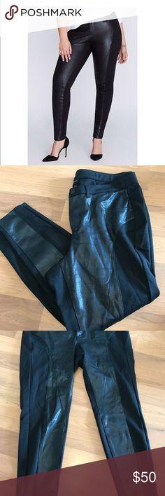Plus💋 Lane Bryant mixed faux leather skinny pants Lane Bryant Black Mixed Faux Leather Ponte Skinny Pants. Size 22. New without tags. Lane Bryant Pants Skinny