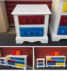 """Lego"" themed dresser"