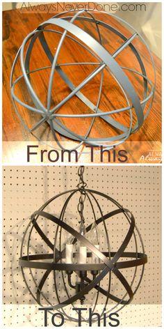 Easy DIY orb hanging Light Pendant