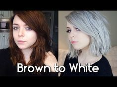 From Dyed Brown to White Hair: My Experience - YouTube