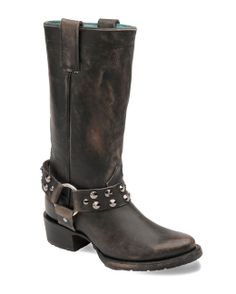 Corral Women's Black Harness and Studs Boot - C2657