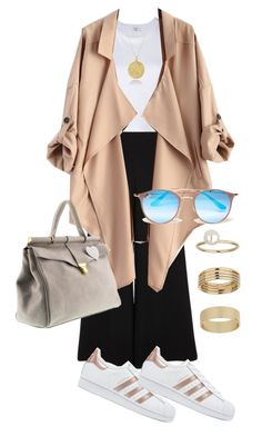 """Untitled #47"" by evachrisomalli-1 on Polyvore featuring RE/DONE, River Island, adidas Originals, Ray-Ban and Miss Selfridge"