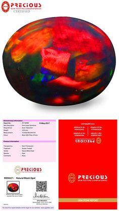 Black Opals 181110: 2.58 Ct Pgtl Certified Oval Cabochon (12 X 10 Mm) Flashing Multi Black Opal -> BUY IT NOW ONLY: $69.99 on eBay!