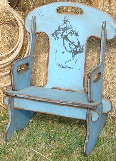 Children's Wood Rocking Chair