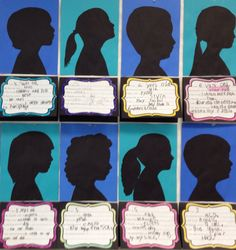 Kindergarten silhouettes all about me for open house