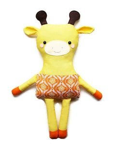Giraffe Sewing Pattern Toy Giraffe Easy Sewing by GandGPatterns