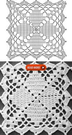 Crochet Diagram, Crochet Chart, Crochet Motif, Crochet Lace, Crochet Stitches, Crochet Coaster, Doilies Crochet, Crochet Afghans, Crochet Squares