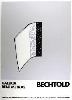 "Erwin Bechtold: Galerie René Métras, ""BECHTOLD"" Galerie René Métras - Barcelona, 1975 Original-Farbsiebdruck 70 x 50 cm Drucker: Taller Ibograf, . Barcelona, The Originals, Exhibitions, Poster Poster, Posters, Poster, Barcelona Spain"