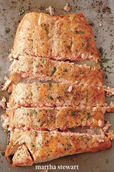 A technique you'll come back to again and again! Butter, salt, and pepper are really all you need to bring out the flavor of fresh fish. Sprinkle with parsley if you're feeling fancy. #marthastewart #recipes #recipeideas #fastrecipes #quickrecipe #easy #quick #weeknight Tuna Recipes, Quick Recipes, Seafood Recipes, Healthy Recipes, Oven Roasted Salmon, How To Cook Everything, Halibut, Just Cooking, Main Meals