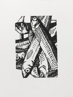 Woodcut Prints by Graham Blair Graphic Illustration, Graphic Art, White Prints, Tampons, Linocut Prints, Printmaking, Illustrators, Art Projects, Drawings