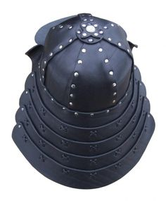 how to make a leather helmet | Leather samurai helmet | Leather helmets & torso armour ...