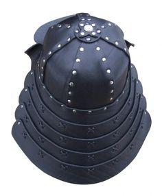 how to make a leather helmet   Leather samurai helmet   Leather helmets & torso armour ...