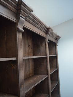 Our Georgian Style Triple Bookcase with a Dark Walnut finish. Made to any size, here at Christy Bird's..