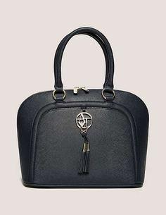blue Armani Jeans Tassel Bag