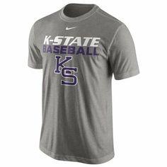 Nike Kansas State Wildcats Baseball Issue Legend Performance T-Shirt - Ash