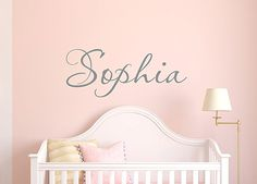 Girls Name Decal - Name Wall Decal - Childrens Wall Decals - Girls Bedroom Decor - Personalized Name #affiliate