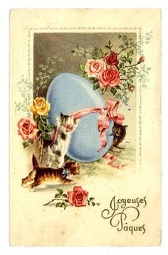 Vintage easter graphic