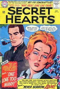 A cover gallery for the comic book Secret Hearts Vintage Comic Books, Vintage Comics, Vintage Magazines, Comics Love, Old Comics, Comic Book Paper, Romantic Comics, Pulp, True Romance