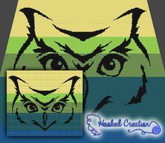 Tribal Owl TSS Throw Sized Blanket Crochet Pattern - PDF Download