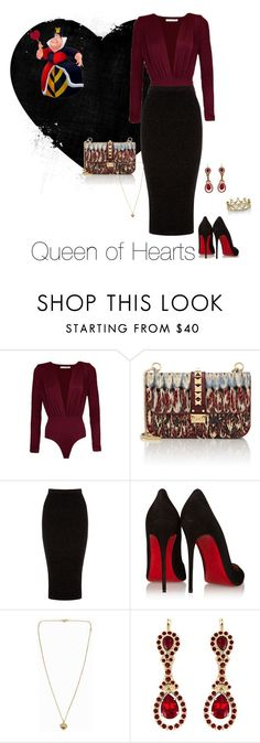 """""""Queen of Hearts"""" by christin0526 on Polyvore featuring Valentino, Warehouse, Christian Louboutin, Michael Kors, Givenchy and Erica Courtney"""