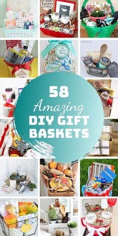 These amazing DIY gift basket ideas are perfect for baby showers, housewarming and Christmas as well as auction fundraisers. gift ideas 58 Unforgettable DIY Gift Baskets That Will Steal the Show Homemade Gift Baskets, Diy Gift Baskets, Christmas Gift Baskets, Homemade Christmas Gifts, Christmas Gifts For Mom, Homemade Gifts, Christmas Diy, Beach Basket Gift Ideas, Unique Gift Basket Ideas