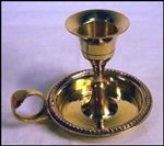 Taper Candle Holder - Antique Brass w/ Handle (3 Inch )