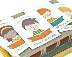 Custom Portrait Bookplates - for a little bookworm.