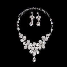 Magic Gorgeous Rhinestone Ladies' Jewelry Set Including Necklace and Earrings – GBP £ 18.13