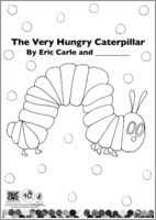 The Very Hungry Caterpillar book which allows the student to become a coauthor