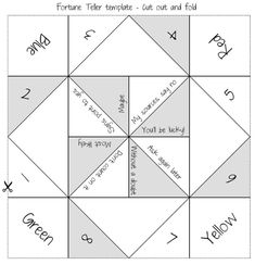 Free Cootie Catcher Printables Check Out The Free EasyToEdit