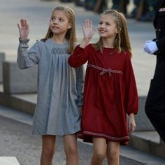 Los vestidos 'gemelos' de la princesa Leonor y la infanta Sofía en la apertura de la Legislatura - Foto 2