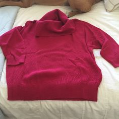 Cowl neck sweater Pink cowl neck quarter sleeve lightweight sweater LOFT Sweaters Cowl & Turtlenecks