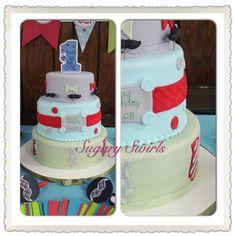 stash - first birthday little gentleman's cake Custom Birthday Cakes, Little Gentleman, Fun To Be One, First Birthdays, Children, Desserts, Baby, Young Children, Tailgate Desserts