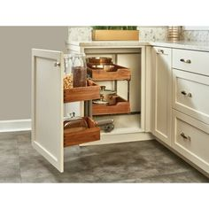 p/rev-a-shelf-blind-corner-cabinet-organizer-pull-out-pantry-wayfair - The world's most private search engine Kitchen Cabinet Organization, Storage Cabinets, Kitchen Storage, Pull Out Kitchen Cabinet, Kitchen Organizers, Countertop Organization, Cabinet Organizers, Door Organizer, Organization Ideas